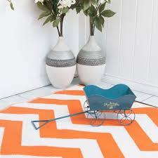 Zig Zag Outdoor Rug Zig Zag Outdoor Rug In Orange White Cool Plastic Patterned Mat