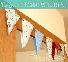 no sew decorative bunting instructions bunting and garland