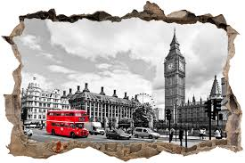 hole big ben london wall stickers hole big ben london