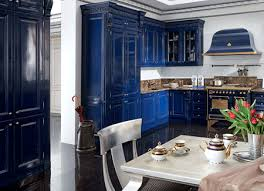 Blue And White Kitchen Cabinets Navy Blue Kitchen Cabinets