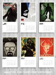 geek calendar 2016 movie calendar wall art calendar video game