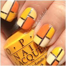 opi citron hues with nail tape simple nail design nail art