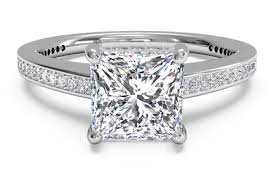 solitaire princess cut engagement rings princess cut engagement ring