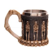 3d dragon claw warrior skull gothic goblet spine chalice cup