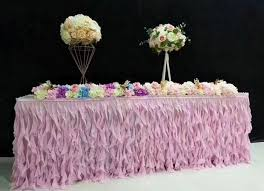 Party Table Covers Aliexpress Com Buy New Fashion Table Skirt Table Cloth Wedding