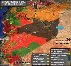 07 World Map by Military Situation In Syria On July 7 2017 Map Update