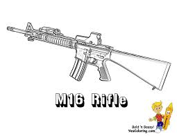 gun coloring pages funycoloring