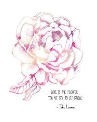lennon quote pink peony flower 8x10 metallic print 20 00