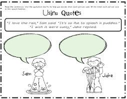 sarah u0027s first grade snippets using quotation marks