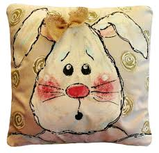 Outdoor Christmas Pillows by Easter Decorations Easter Bunny Floppy Ear Bunny Accent
