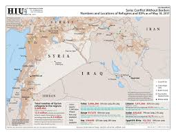 Syria Map Location by Products