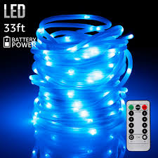 Battery Powered Patio Lights 33ft 100leds Starry String Lights Waterproof Battery Powered