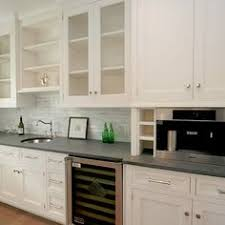 Kitchen Cabinets White Shaker Shaker Style Cabinets And Concrete Gray Quartz Countertop