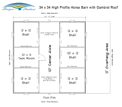 Gambrel Roof Plans by Prefab Horse Stalls Modular Barn Plans Horizon Structures
