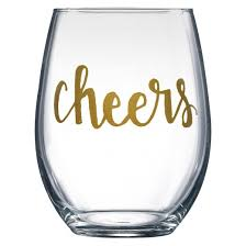 4pc cheers stemless wine glasses threshold target