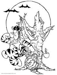 winnie pooh halloween tigger coloring halloween color