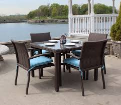 Rattan Patio Dining Set Wicker Patio Dining Set Of 5 Brown