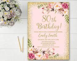 80th birthday invitation marialonghi com