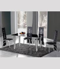 glass chrome dining table manchester furniture supplies