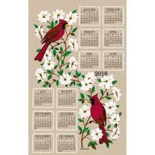kay dee designs dogwood and cardinal 2018 calendar towel