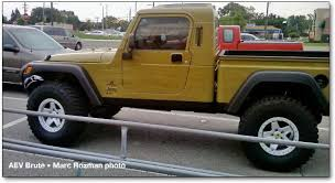 jeep truck conversion jeep jt wrangler pickups and the aev brute