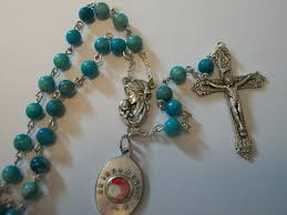our of guadalupe rosary our of guadalupe turquoise dyed jasper rosary with relic
