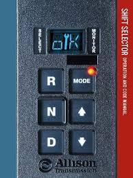 allison shift selector op u0026 codes transmission mechanics switch