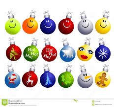 assorted ornaments clip stock illustration image