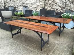 The Stuart Dining Table  Detroit Garden Works - Ipe outdoor furniture