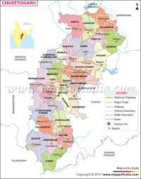 Map Of India With States by Chhattisgarh State Information And Chhattisgarh Map