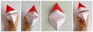 How To Make A Origami Santa - origami how to make an origami santa claus puppet