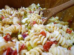 tuna pasta salad stir in the mayo dijon mustard lemon juice