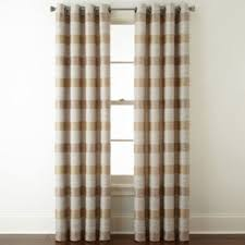 Custom Drapes Jcpenney Jcpenney Home Quinn Basketweave Grommet Top Curtain Panel Jcpenney