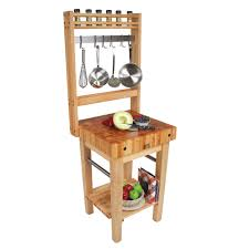 gourmet butcher blocks pro prep block pot rack maple pot rack