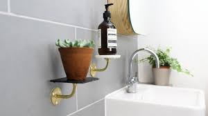 Drilling Into Bathroom Tiles How To Create Bathroom Shelves Without Drilling Sugru