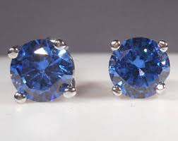 tanzanite stud earrings tanzanite studs etsy