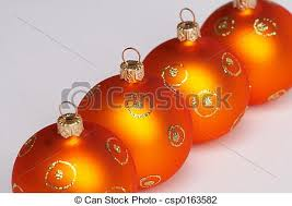 stock photo of four tree balls vier weihnachtskugeln
