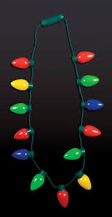 exquisite design christmas light bulb necklace flashing lights the
