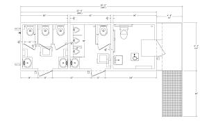 Bathroom Design Dimensions Ada Bathroom Size This Single User Restroom Has Been Designed