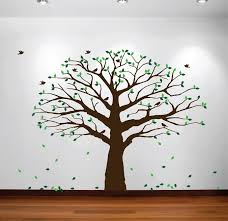 Nursery Tree Wall Decal by Large Wall Nursery Family Tree Decal Photo Branches Falling Leaves