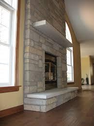 masonry fireplace simple modern design corner stone look granite f