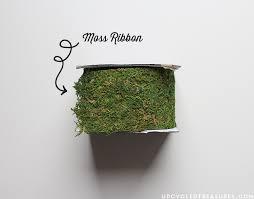 moss ribbon diy moss wall decor mountain modern
