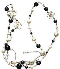 long silver pearl necklace images Chanel pearl necklaces up to 70 off at tradesy jpg