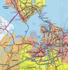 Virginia Beach Map Interstate Guide Interstate 664 Virginia