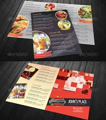 stylish food menu templates entheos