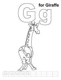 giraffe coloring pages printable g is for giraffe coloring pages