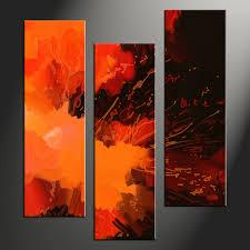 wall art designs vertical wall art piece canvas wall art orange