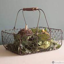 panier cuisine panier métal rouillé cosy déco pour la cuisine boutique de décoration