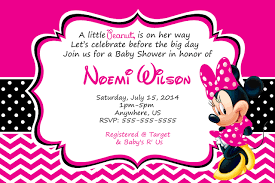 Minnie Invitation Card Pink Minnie Mouse Baby Shower Invitations Minnie Mouse Baby