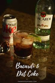 black russian cocktail bacardi rum and diet coke the farmwife drinks